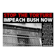 Stop Torture Impeach Bush Postcards (8 pack)