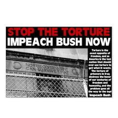 Stop Torture Impeach Bush Postcards (8 pack)
