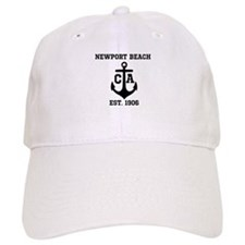 Newport Beach anchor design Baseball Baseball Cap