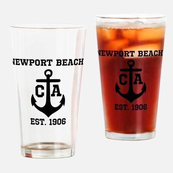 Newport Beach anchor design Drinking Glass