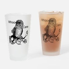 Whooo Cares Owl Drinking Glass