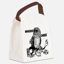 Whooo Cares Owl Canvas Lunch Bag