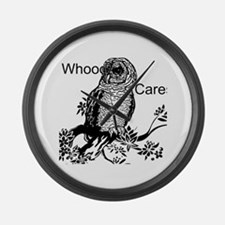 Whooo Cares Owl Large Wall Clock