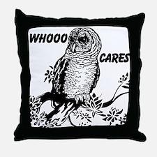 Whooo Cares Owl Throw Pillow