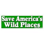 Save America's Wild Places Bumper Sticker