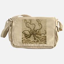 Sepia Kraken Messenger Bag