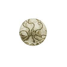 Sepia Kraken Mini Button