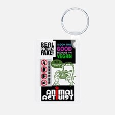 Vegan/Animal Rights Scrapbook Keychains