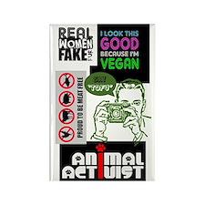 Vegan/Animal Rights Scrapbook Rectangle Magnet