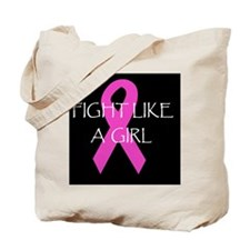 breast cancer awareness fught like a girl Tote Bag
