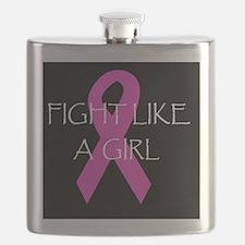 breast cancer awareness fught like a girldbu Flask