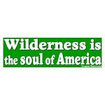 Wilderness: America's Soul Bumper Sticker