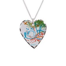 Palm Tree and Graffiti Shower Necklace