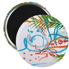 Palm Tree and Graffiti Shower Curtain Magnet