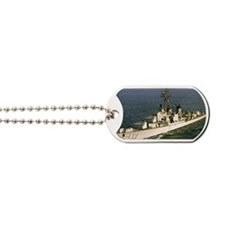 uss samuel n. moore rectangle magnet Dog Tags