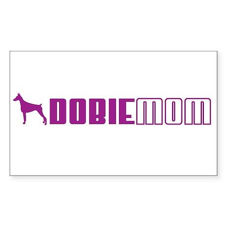 Dobie Mom 2 Rectangle Sticker