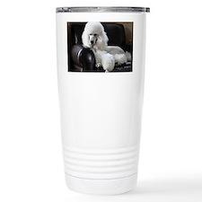White standard poodle  Travel Coffee Mug