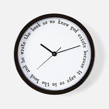 god exists circular argument Wall Clock