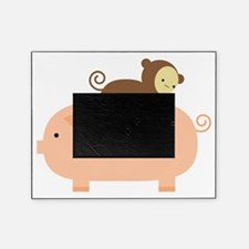 Baby Monkey Riding Backwards on a Pi Picture Frame