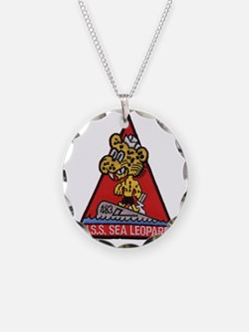 uss sea leopard patch transp Necklace