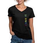 South Africa Women's V-Neck Dark T-Shirt