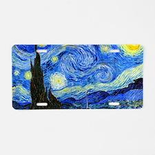 Van Gogh Aluminum License Plate
