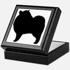 keeshondsilhouette Keepsake Box