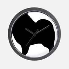 keeshondsilhouette Wall Clock