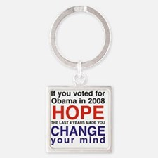 Hope and Change presidents Square Keychain