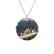 uss samuel n. .moore framed  Necklace