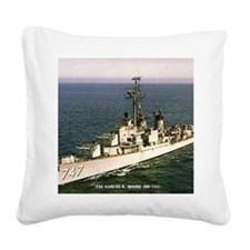 uss samuel n. .moore framed p Square Canvas Pillow