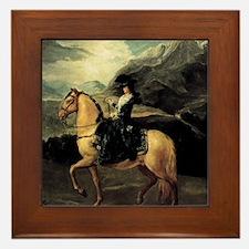 Francisco Goya Portrait Of Maria Teres Framed Tile