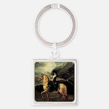 Francisco Goya Portrait Of Maria T Square Keychain