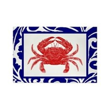 """The Fab Crab"" -- Rectangle Magnet"