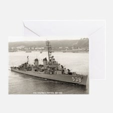 uss stephen potter framed panel prin Greeting Card
