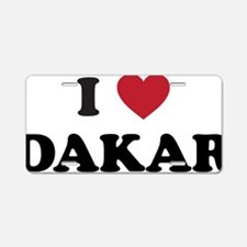 I Love Dakar Aluminum License Plate