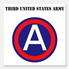 """Third United States Army Square Car Magnet 3"""" x 3"""""""