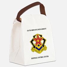 184th Ordnance Detachment Disposa Canvas Lunch Bag