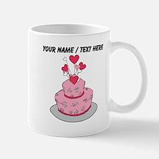 Custom Pink Wedding Cake Mugs