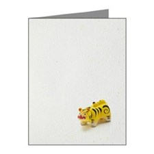 Papier mache tiger Note Cards (Pk of 20)
