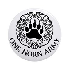 One Norn Army Round Ornament