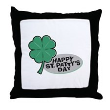 Shamrock - St. Paddy's Day Throw Pillow
