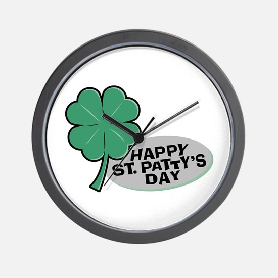 Shamrock - St. Paddy's Day Wall Clock
