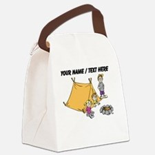 Custom Kids Camping Canvas Lunch Bag