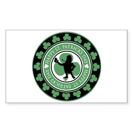 Leprechaun - St. Partrick's D Sticker (Rectangular