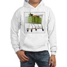 Grocery cart full of bagged prod Hoodie