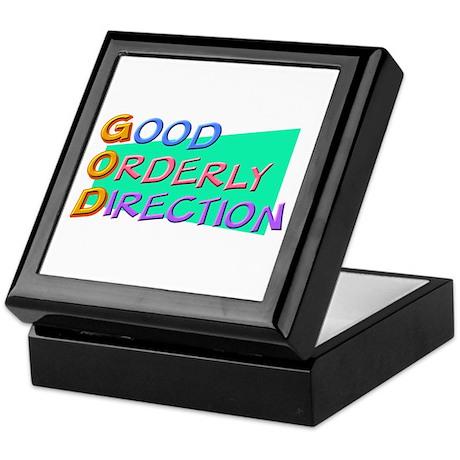 GOD Good Orderly Direction Keepsake Box