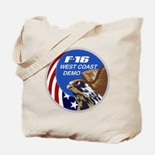 F-16 Fighting Falcon West Coast Demo Patc Tote Bag