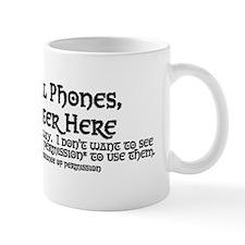 Abandon All Phones Ye Who Enter Here Mug
