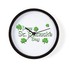 Happy St. Patrick's Day - Sha Wall Clock